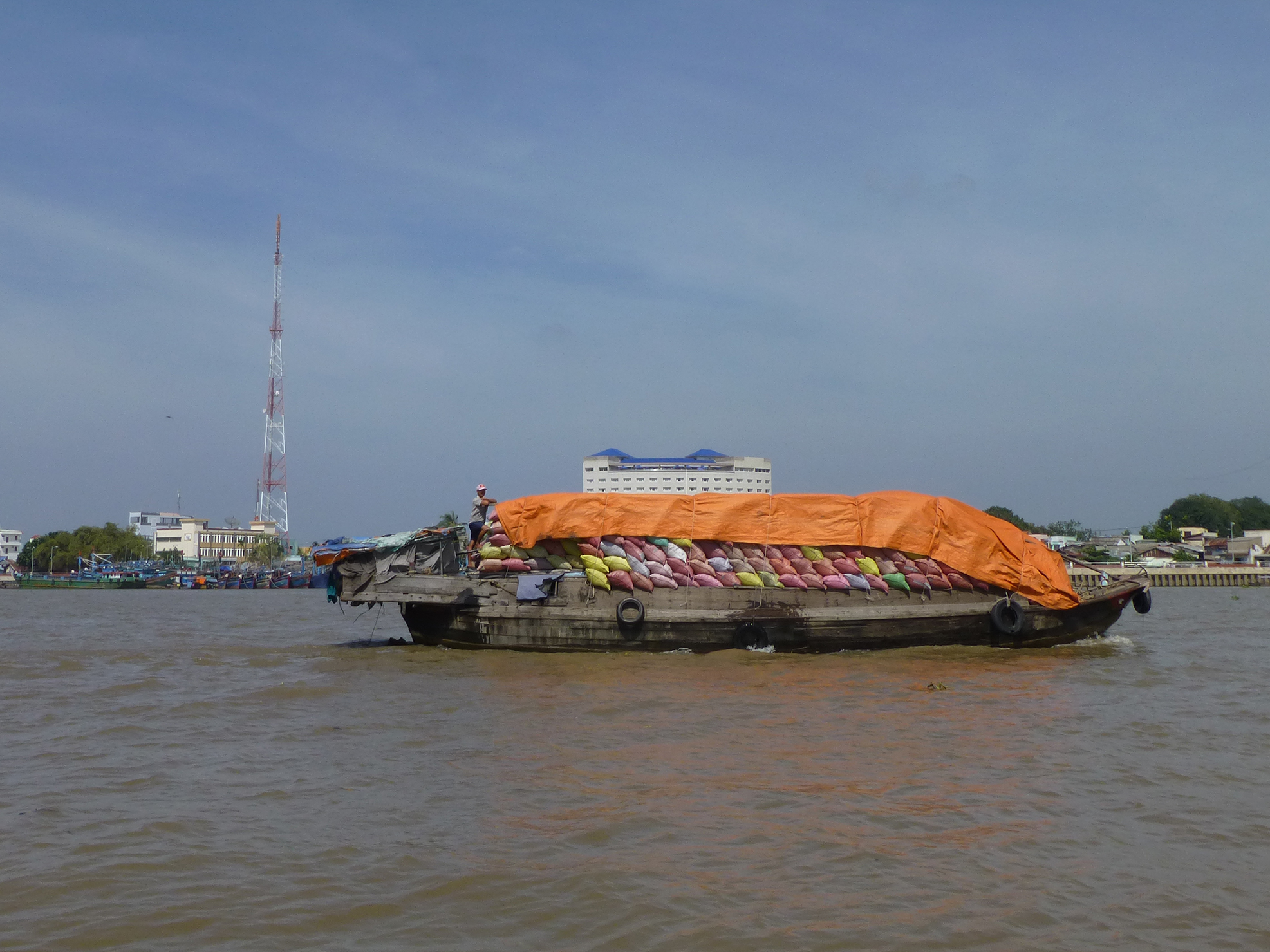 Shipping rice in the Mekong Delta. Copyright: Erica Gies.