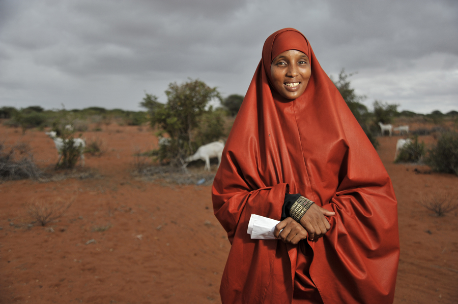 Shamsa Kosar, a beneficiary of Takaful insurance in Wajir. Photo courtesy of ILRI.