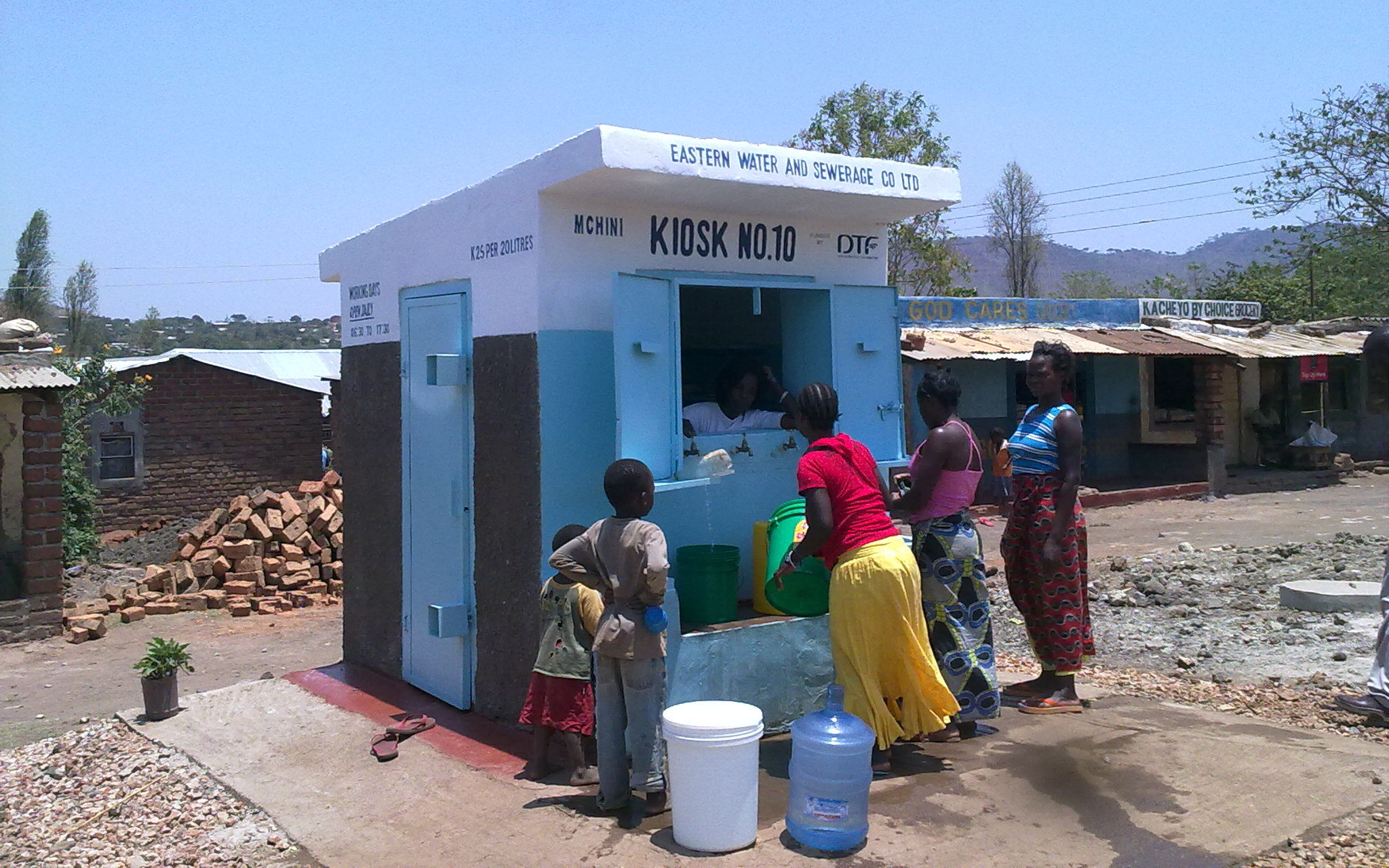 A water kiosk in Chipata, Zambia. Photo: © GIZ Rahul Ingle, 2010
