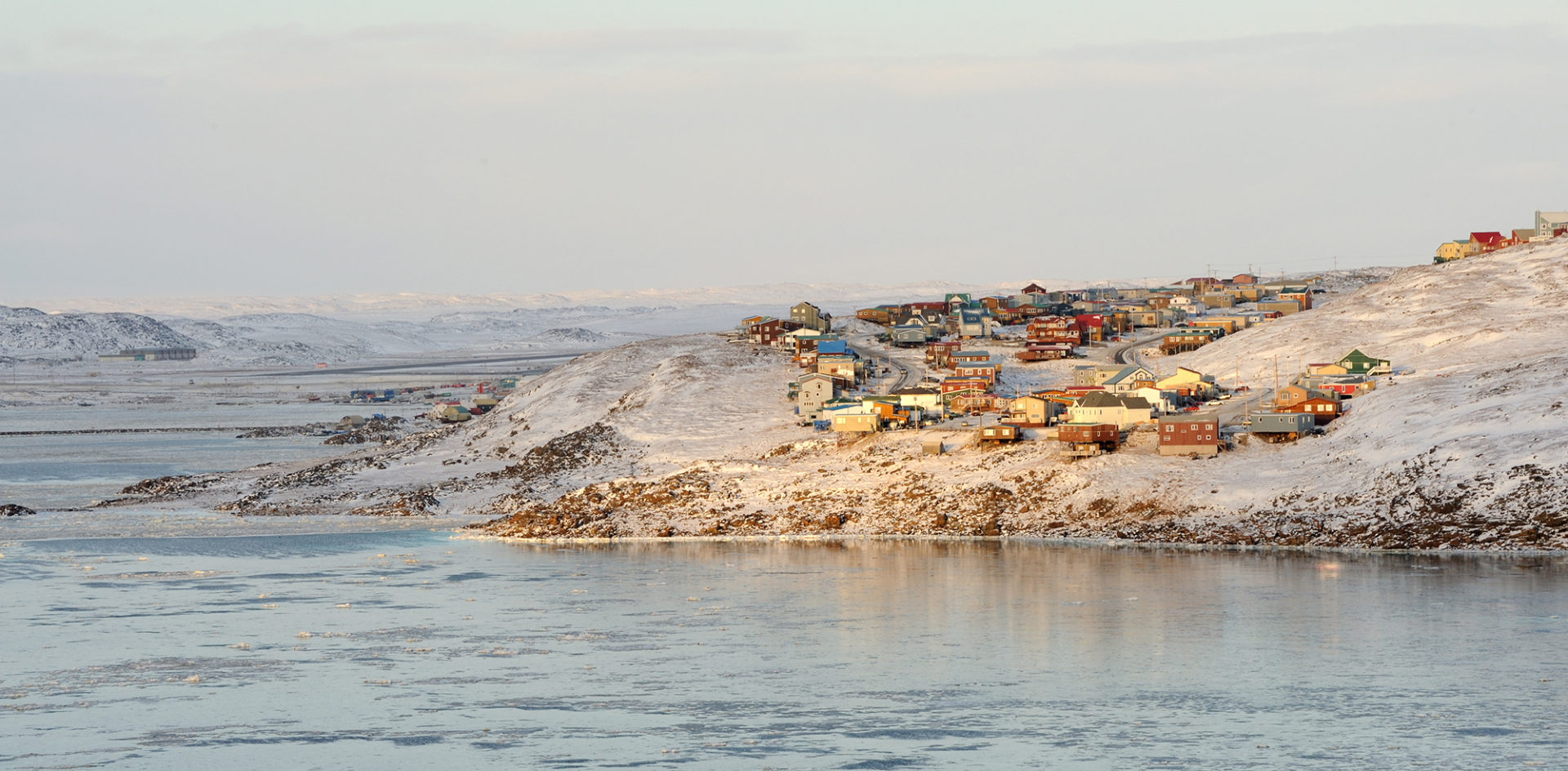 Iqaluit outskirts and Frobisher Bay. Date 5 November 2009 Source Own work Author Saffron Blaze