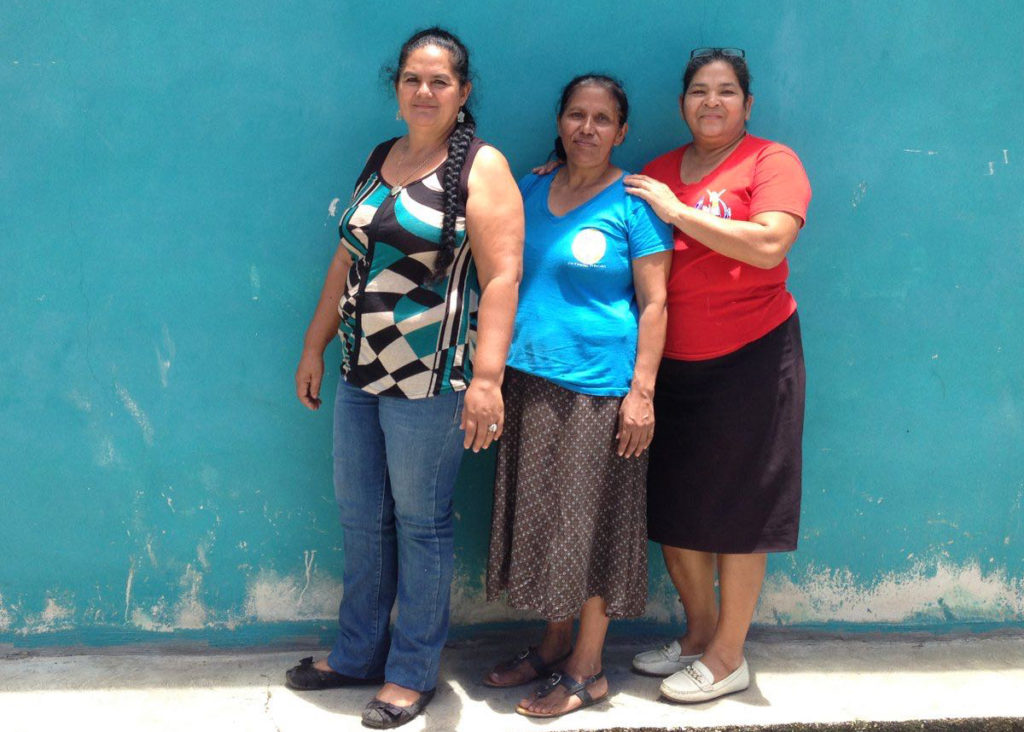 Rosmary Sosa, Lilian Cruz and Sabina Irias are three of the members in the cooperative La Dinámica. Photo: M. Pellicia