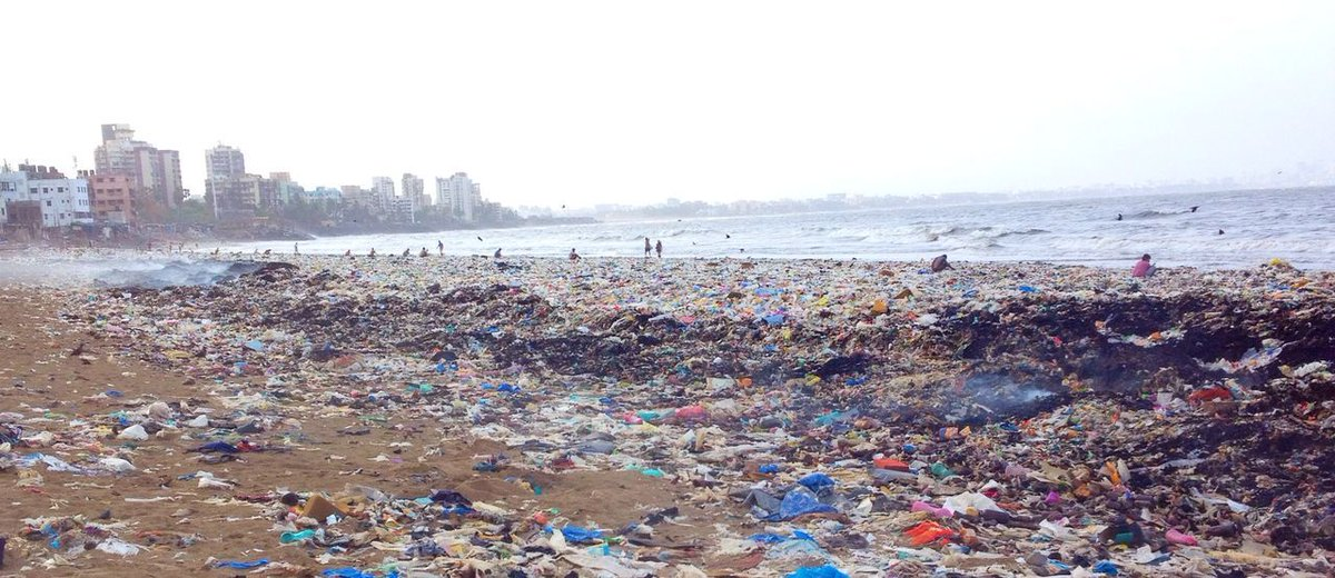 Versova Beach before the clean-up. Photo: Afroz Shah