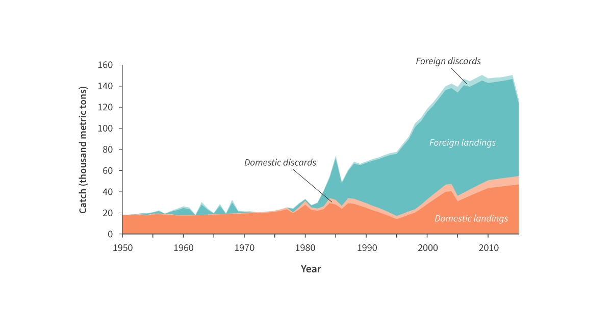Total reconstructed domestic and foreign landings and discards from Somali waters.
